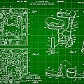 Mouse Trap Board Game Patent 1962 - Green by Stephen Younts