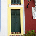 Narrow Yellow Building In Old San Juan by Birgit Tyrrell