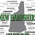 New Hampshire State Pride Map Silhouette  by Keith Webber Jr