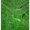 Nuremberg Street Map - Nuremberg Germany Road Map Art On Colored by Jurq Studio