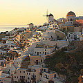 Oia At Sunset Santorini Cyclades Greece  by Ivan Pendjakov