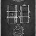 Oil Drum Patent Drawing From 1905 by Aged Pixel