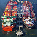 Oil Tankers Docked At Oil Pier, Down by Dave Cleaveland