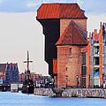 Old Port Crane In Gdansk by Karol Kozlowski