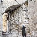 Old Town Street In Jerusalem Israel by Jacek Malipan