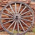 Old Wagon Wheel 2 by Cynthia Guinn