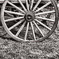 Old Wagon Wheel On Cart by Olivier Le Queinec