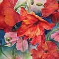 Oriental Poppies by Ruth Kamenev
