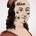 Ornamental Patches On Face 17th Century by Photo Researchers