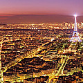 Paris Cityscape At Night / Paris by Barry O Carroll