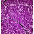 Paris Street Map - Paris France Road Map Art On Colored Backgrou by Jurq Studio