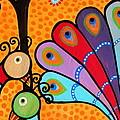 2 Peacocks And Tree by Pristine Cartera Turkus