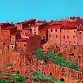 Pitigliano Village by Allan P Friedlander