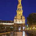 Plaza De Espana Tower In Seville by Artur Bogacki