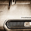 Plymouth Barracuda Grille Emblem by Jill Reger