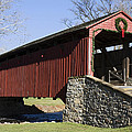 Poole Forge Covered Bridge by Sally Weigand
