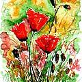 Poppy Lawn by Zaira Dzhaubaeva