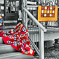 Porch Of Many Colors by Nadine Lewis