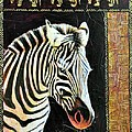 Portrait Of A Zebra by JAXINE Cummins