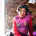Portrait Of Young Kyrgyz Girl Inside A Yurt China by Matteo Colombo