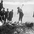 Prohibition Feds Destroy Liquor  1923 by Daniel Hagerman