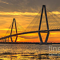 Ravenel Bridge Sunset by Dale Powell