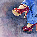 Red Heels And Jeans by Cynthia Roudebush