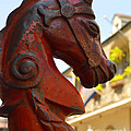 Red Horse Head Post by Alys Caviness-Gober