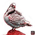 Red Pigeon Pop Art 5516 - Fs - Bb -  Modern Animal Artist James  by James Ahn