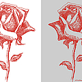 2 Red Roses Poster by Gordon Punt