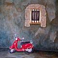 Red Vespa by Pamela Allegretto