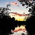 River Sunset by Mark Llewellyn