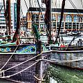 River Thames Sailing Barges. by David Pyatt