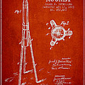 Rocket Patent Drawing From 1883 by Aged Pixel