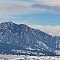 Rocky Mountains Flatirons And Longs Peak Panorama Boulder by James BO Insogna
