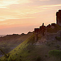 Romantic Fantasy Magical Castle Ruins Against Stunning Vibrant S by Matthew Gibson