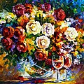Roses And Wine by Leonid Afremov