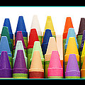 Rows Of Crayons by Donald  Erickson