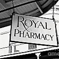 Royal Pharmacy - Bw by Scott Pellegrin