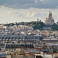 Sacre Coeur Over Rooftops by Gary Eason