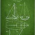 Sailboat Patent Drawing From 1948 by Aged Pixel