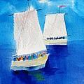 2 Sailboats by Carlin Blahnik CarlinArtWatercolor