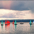 Sailing On Marine Lake A Reflection by Spikey Mouse Photography