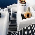 Santorini Steps by Eva Kaufman