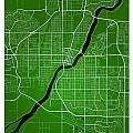 Saskatoon Street Map - Saskatoon Canada Road Map Art On Colored  by Jurq Studio