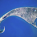 Satellite View Of Cape Cod National by Panoramic Images