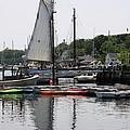 Schooner Camden Harbor - Maine by Christiane Schulze Art And Photography
