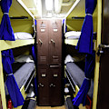 Seaman Lockers And Bunks Aboard Uss by Stocktrek Images