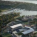 Seattle Skyline With Aerial View Of The Newly Renovated Husky St by Jim Corwin