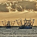 2 Shrimper Going To Sea by Michael Thomas